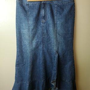 Venezia Womens Denim Skirt plus size 18